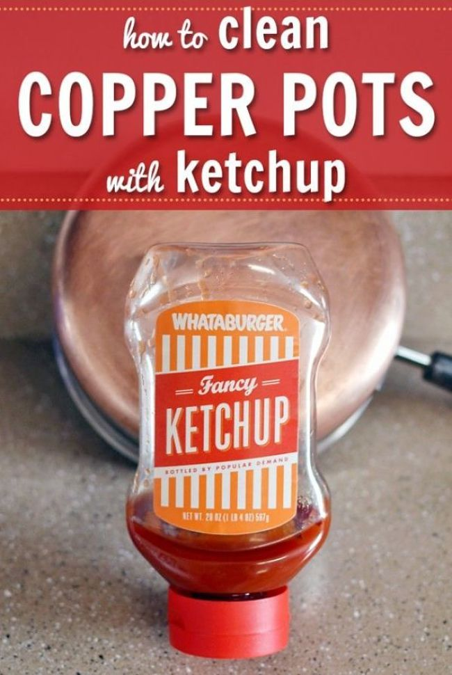 Ketchup is a surprisingly good copper cleaner