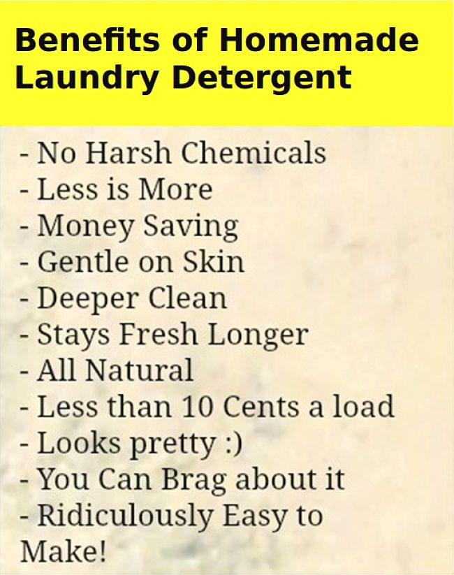 Benefits of Homemade Laundry Detergent