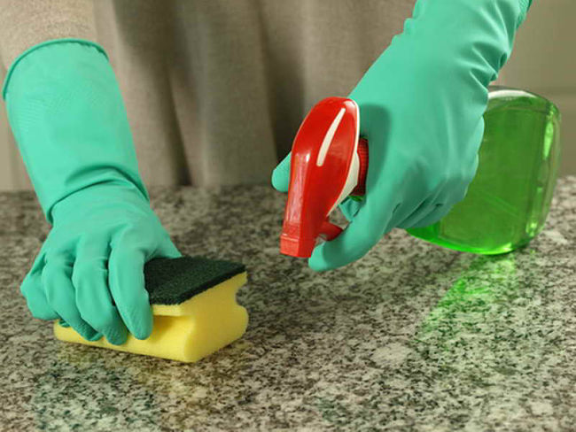 You can clean bench tops safely using natural ingredients and elbow grease.